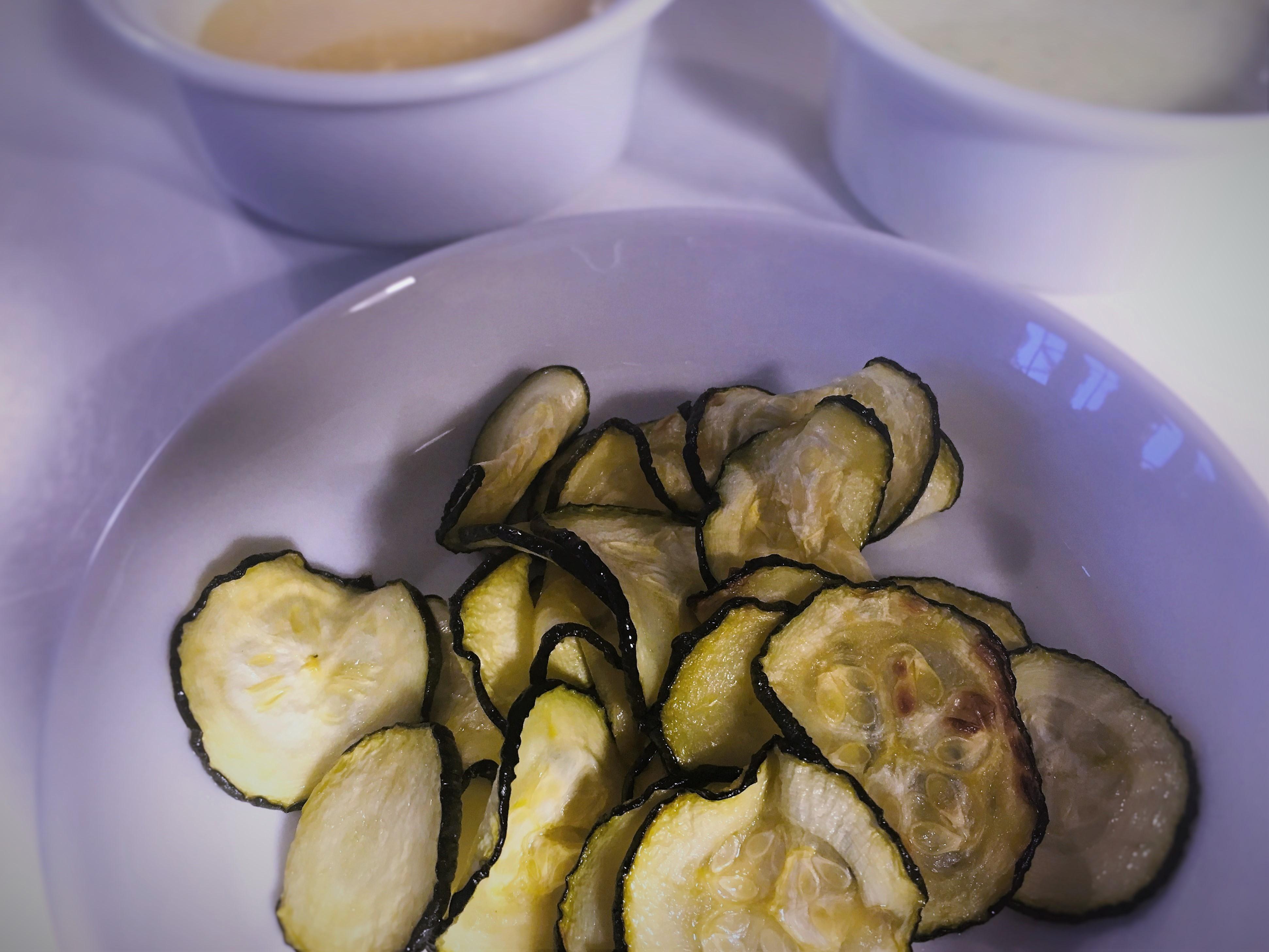 Chips, ovn, squash, zucchini, opskrift, superotium, nemt, sjovt