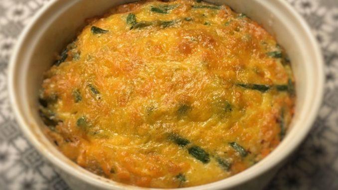 Grønne bønner (haricots verts) i lækker æggekage - nemmere og sjovere