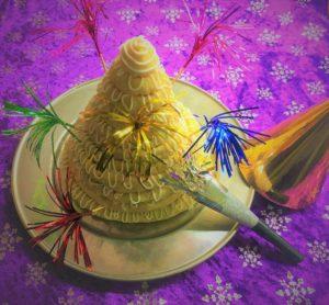 Kransekage opskrift, nougat, nytår, fest, gæster, sjovere, superotium, super, otium, Kransekage med nougat