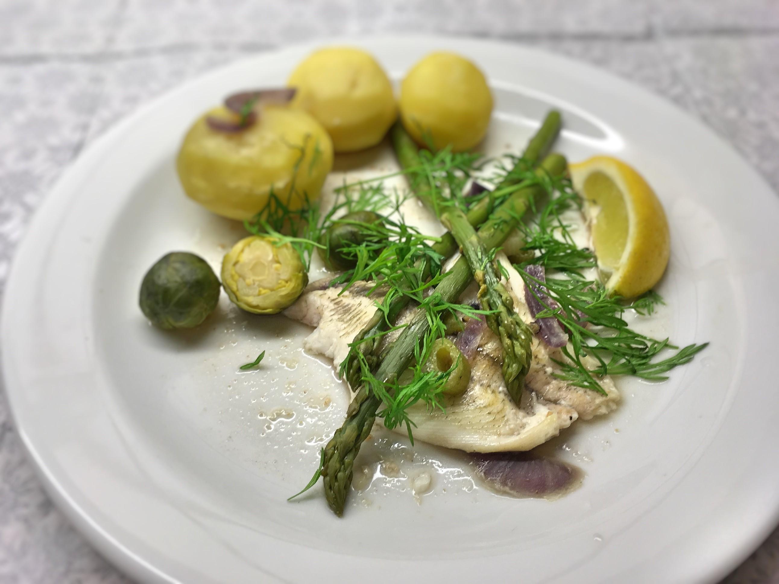 Rødspætte, fisk, opskrift, kartofler, sundt, sjovt, nemt, fiskeolie, asparges, super, otium, superotium