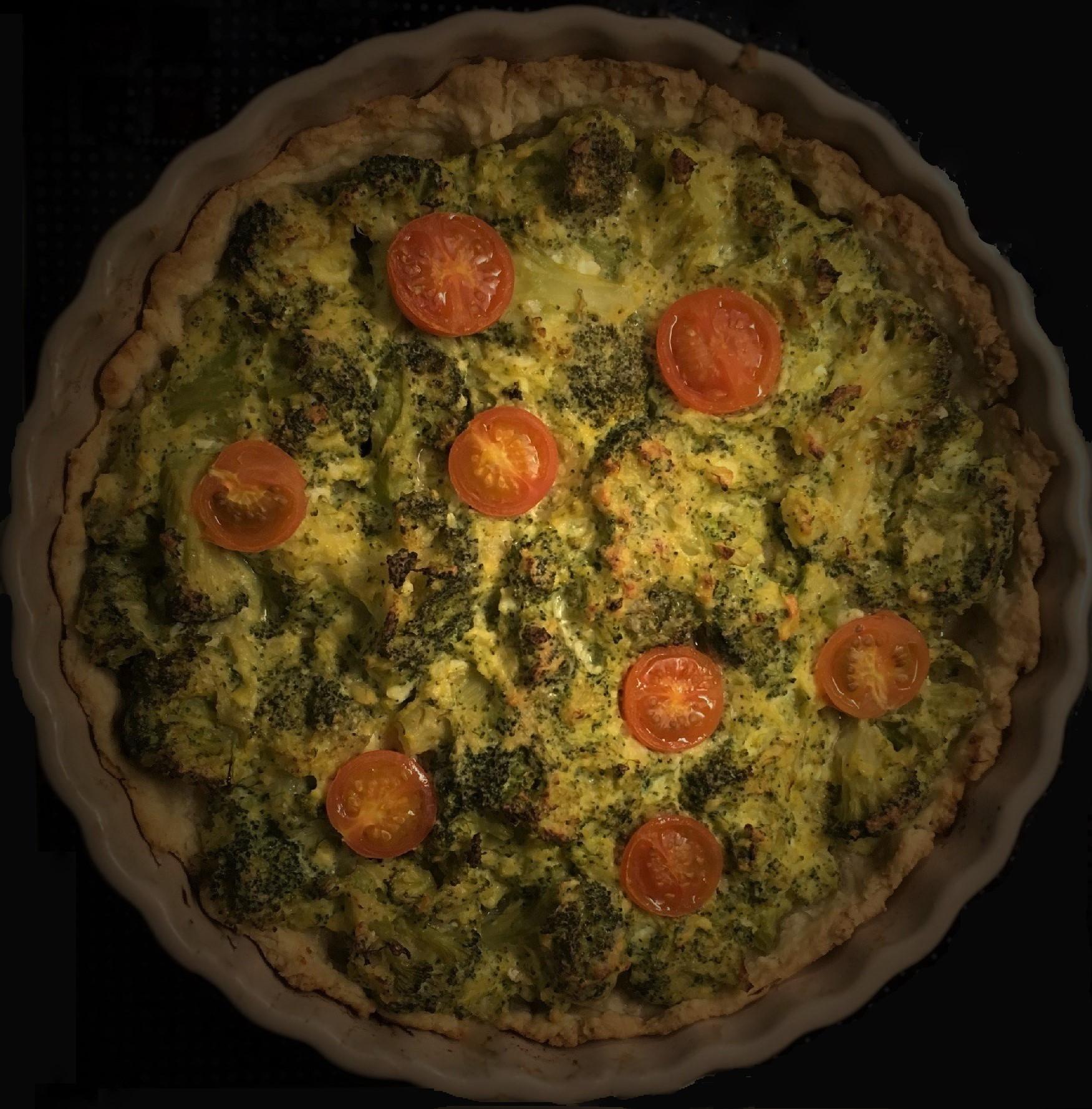 Broccolitærte opskrift, sund mad, hjertesund, SuperOtium, madplan