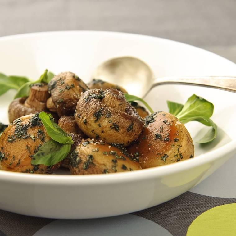 Grillede champignon opskrift, hjerte sund mad, SuperOtium