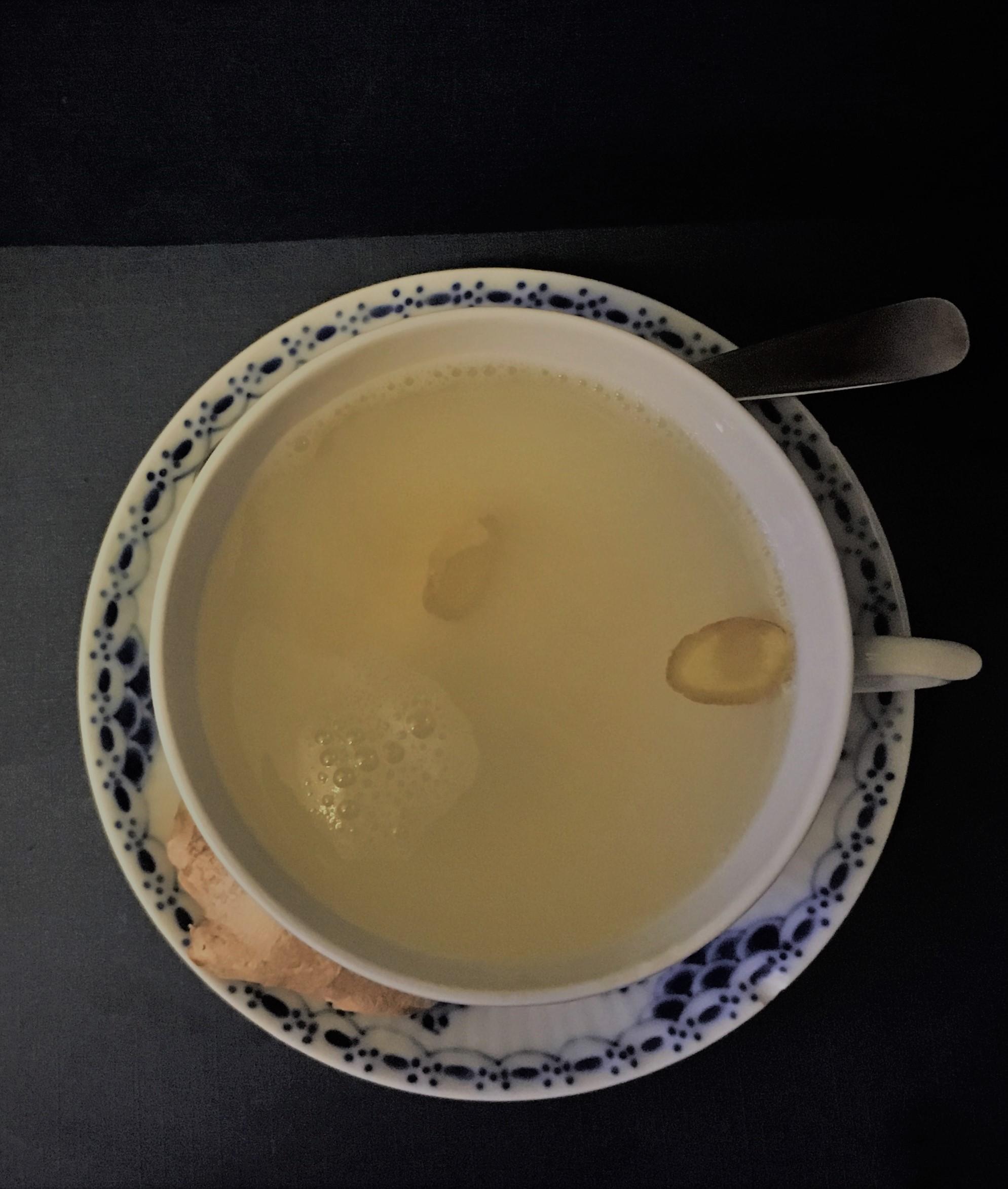 Ingefær te, opskrift, SuperOtium, god for led, gigt, hjertesund, madplan