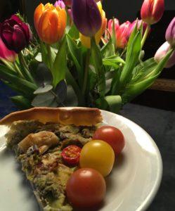 Porretærte, champignontærte, opskrift, madplan, SuperOtium, otium, madplan