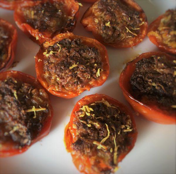 Fyldte tomater i ovn opskrift, hjertesund, grøntsager, SuperOtium