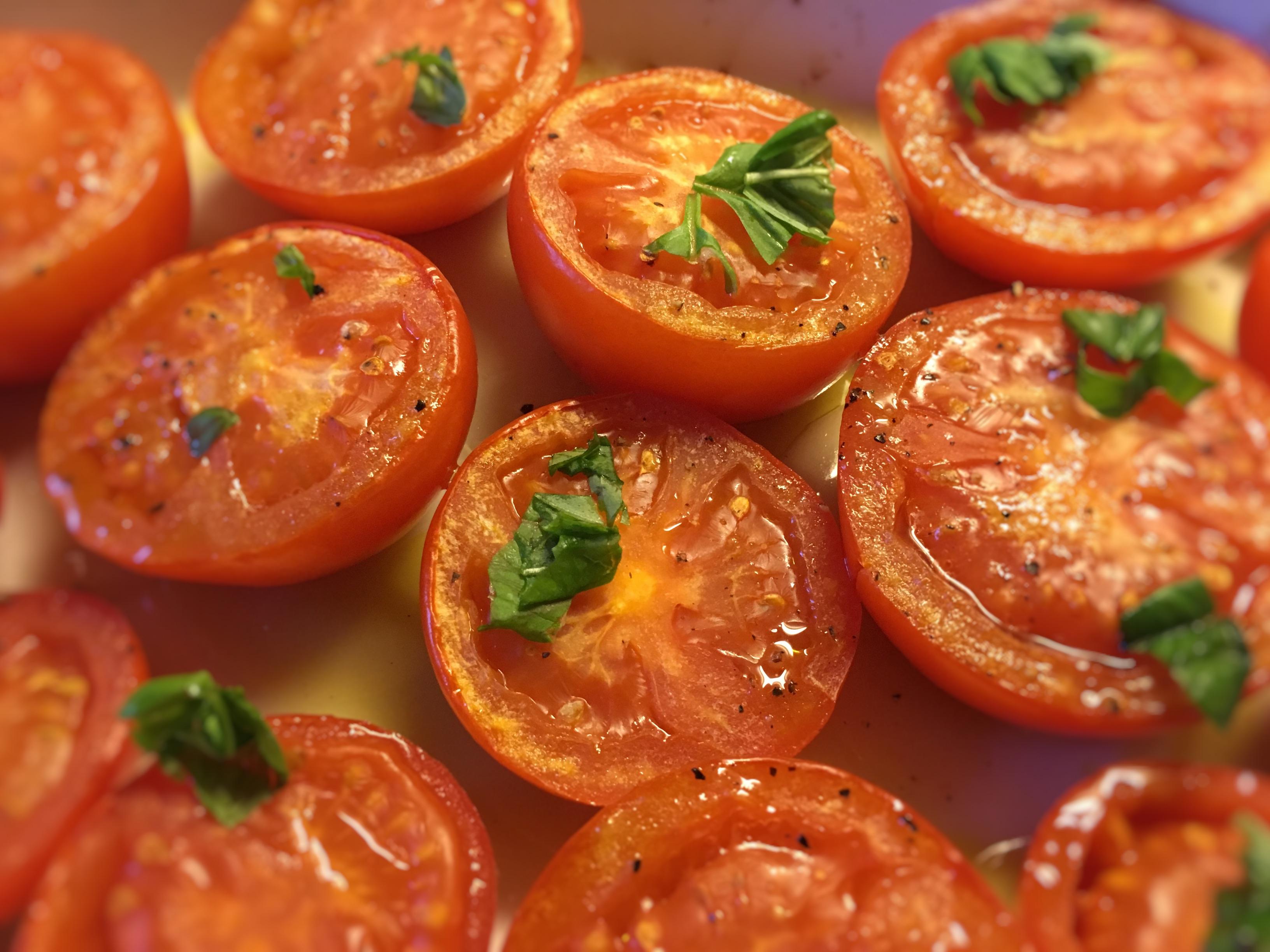 Tomater i ovn opskrift, SuperOtium, hjertesund, nemmere og sjovere, grøntsager, aftensmad tilbehør
