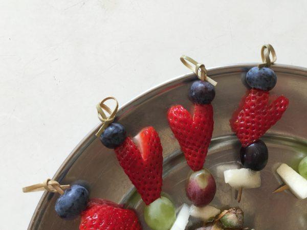 Jordbærhjerter, dessert, reception, fest, student, hjertesund, opskrift, SuperOtium