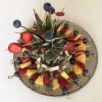 Festligt frugtfad, hjertesund mad, SuperOtium, dessert, gæstemad, jordbær