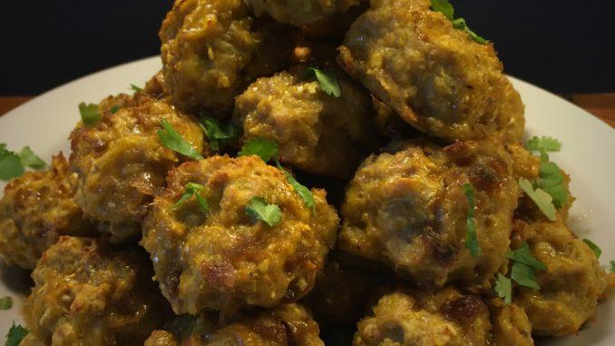 Kyllingefrikadeller opskrift med kyllingefars og frisk koriander, sunde opskrifter, SuperOtium, hjertesund mad